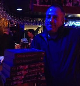 Launch: Jon with books